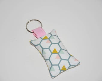 Keychain fabric - geometric - gift idea