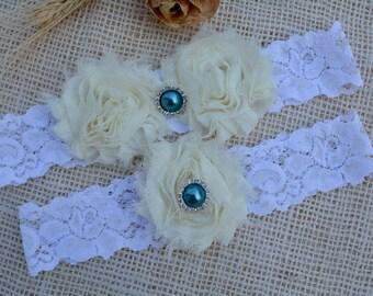 Wedding Ivory Garter, Ivory Garter Set, Crystal Garter, Ivory Wedding, Pearl Garter, White Garter Set, Ivory Garter Belt, Ivory Toss Garter