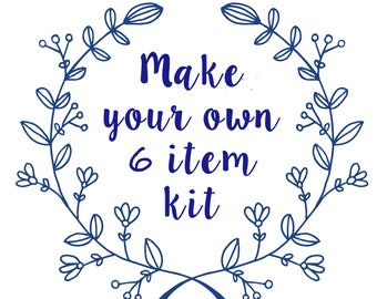 Make Your Own 6 Item Calming Kit - Select From 12 Options - Calm Down Kit - Stress Relief - Fidget Toys - Sensory Toys - Anxiety Jewelry