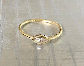 Marquise Ring Gold Filled, Anniversary Ring, Solitaire Gold Ring, 14k Gold Ring, Anniversary Ring, Promise Ring