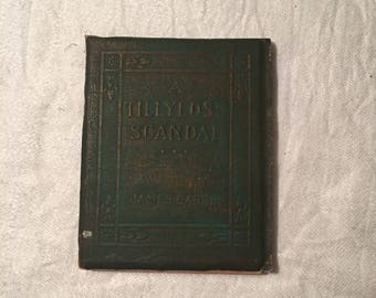 A Tillyloss Scandal, Antique Little Leather Library Book by James Barre