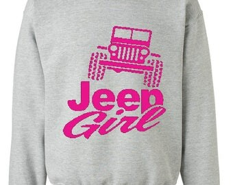 Jeep Girl Humor Trucks Gift for Christmas Birthday Match with Jeans Leggings Hats Unisex Crewneck Sweatshirt