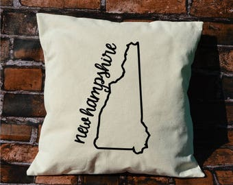 New Hampshire pillow, pillow gift, New Hampshire gift, decorative pillows, pillow cover, New Hampshire, throw pillows, NH pillow, envelope