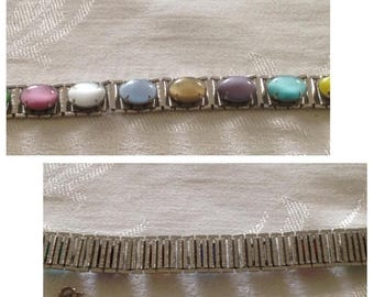 Anniversary Sale Gorgeous Sarah Coventry Multi Color Stone Bracelet