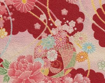 Japanese fabric cotton 45cm * Laise108cm Kimono pattern
