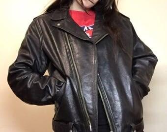 Vintage Stagg leather bikers jacket