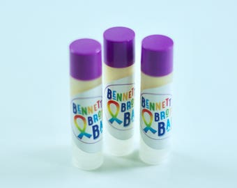NEW! BBB Strawberry Lip Balm Tubes! - 100% of profits donated to Dana-Farber Cancer Institute!