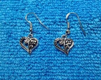 Heart Fishhook Earrings, Jewelry