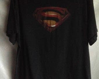 Vintage Superman Man Of Steel Casual T-shirt Men's Size XL Chest 46-48