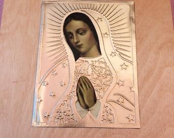 Caja de Bautizo con La Virgen de Guadalupe