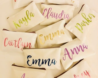 Personalized Cosmetic {white} Bag