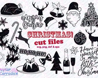 Christmas svg bundle, Christmas svgs, Christmas silhouette files, Christmas dxf files, Christmas cricut files, Christmas vectors