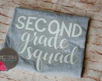 Teacher Shirts, Squad Shirts, School Shirts, First Grade, second grade, third grade, fourth grade, fifth grade, kinder,Grade Level T-shirts
