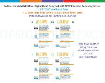 Rodan + Fields MINI FACIAL Digital flyer! Designed with NEW Intensive Renewing Serum! Instant Download