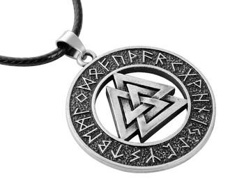 Viking Norse Vulknut rune pendant