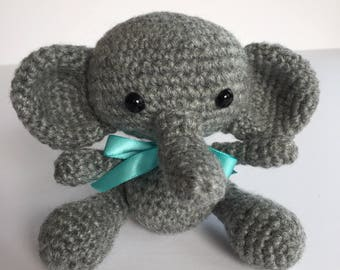 Amigurumi Elephant, Crocheted Elephant, Plush Elephant, Stuffed Animal Elephant,