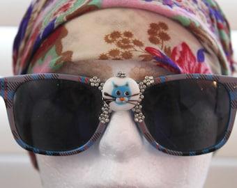 New sunglasses -  kitty-cat & bead embellished