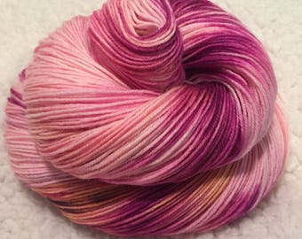 Hand dyed sock yarn 463 yards 4 ply