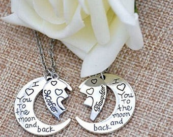 Mother Daughter I Love You To The Moon Jewelry