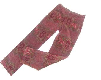 ETRO Italian Pink Velvet Floral & Paisley Slacks Size 38