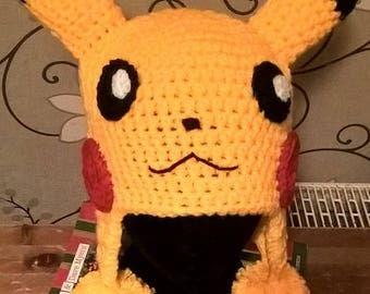 Handmade Crochet Pikachu Hat