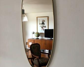 Mirror asymmetric mirror 76 x 33 vintage 1960