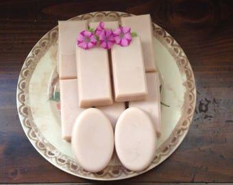 Sheer Pink Shea Butter Lavender Soap
