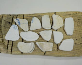 12 Old Sea Pottery - Beach Pottery Shards - Beach Finds - Old  Beach Pottery #23