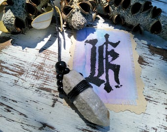 Candle quartz necklace