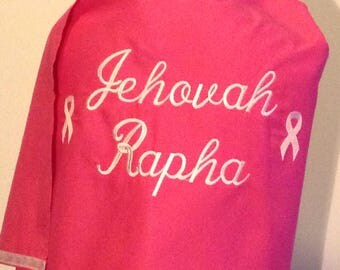 "Breast Cancer Shawl ""Jehovah Rapha"" The God who Heals"