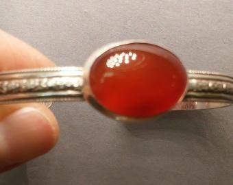 Carnelian in Sterling Silver Bracelet