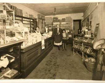 General Store Photo, Old Grocery Store Interior Photo, Ca: 1915.