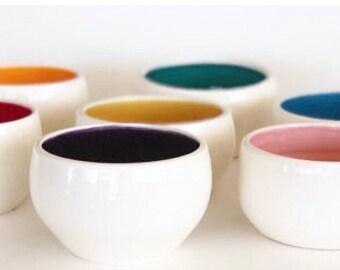Handmade Ceramic Rainbow Bowls