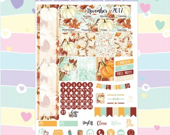 November Mini H Monthly Planner Stickers --- #M14