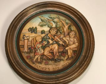 ANRI Fathers Day 1973 Collectable Plate