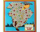 "Jackie Gleason's ""And Awa-a-a-a-a-y We Go!"" Game Board Wall Art"