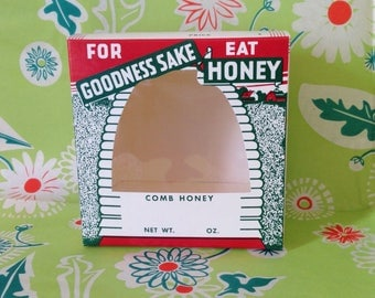 1950s honey comb box / for goodness sake, eat honey / vintage honey box / vintage honey bee box / vintage honey / box #1