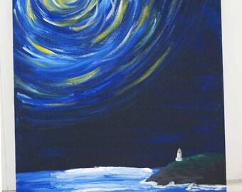 Lighthouse Acrylic Canvas Painting