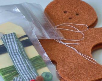 Felt gingerbread man kit