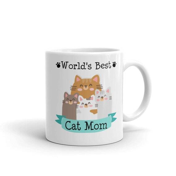 World's Best Cat Mom Mug | Cat Lover Gift Mugs | Cat Mom | Mugs for Cat Lovers | Cat lover gift | Cat mug for her | Gift for cat owner