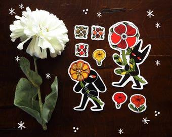 Flower bringers - set of stickers