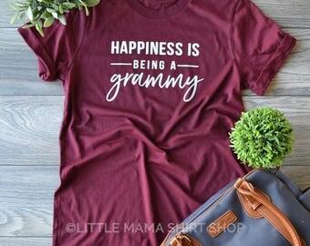 Happiness is Being A Grammy ©  | Grandma Shirt | Shirt for Grammy | Women's T Shirt | Trendy Tees | Grammy Gift | Granny, Nana, Grammy