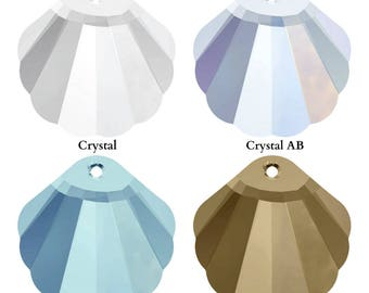 Swarovski Crystal 6723 Shell Pendant 16mm Pick You Colour
