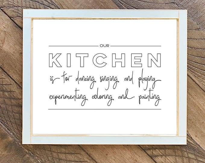 Our Kitchen is for Dancing /// Art print