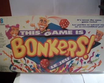 Vintage This game Is BONKERS Board Game 100% COMPLETE 1989