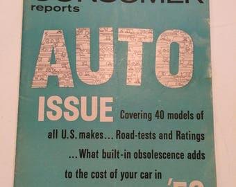 Vintage Consumer Reports Auto 1959