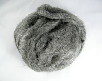 Gotland Wool Roving - Best Seller - Grey - Long Staple - Great for Felting and Beginner Spinners