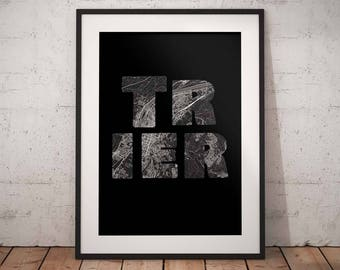 Trier - A4 / A3 print - MapInBlack