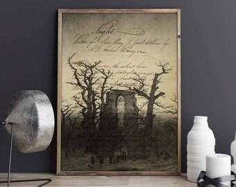Abbey in Eichwald-Din A4-fine-print