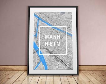 Mannheim-framed city-digital printing